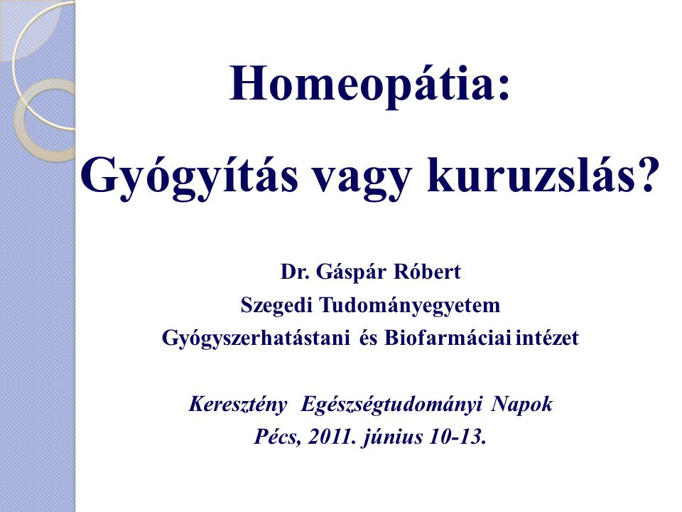 Homeopátia: Gyógyítás vagy kuruzslás