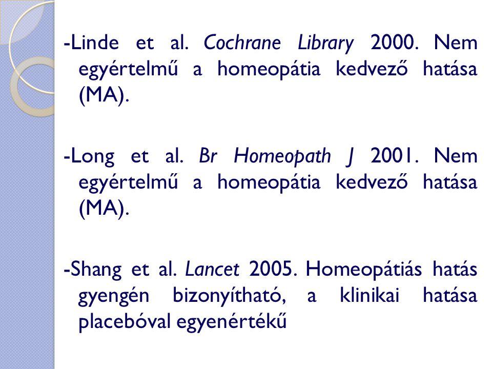 -Linde et al. Cochrane Library 2000