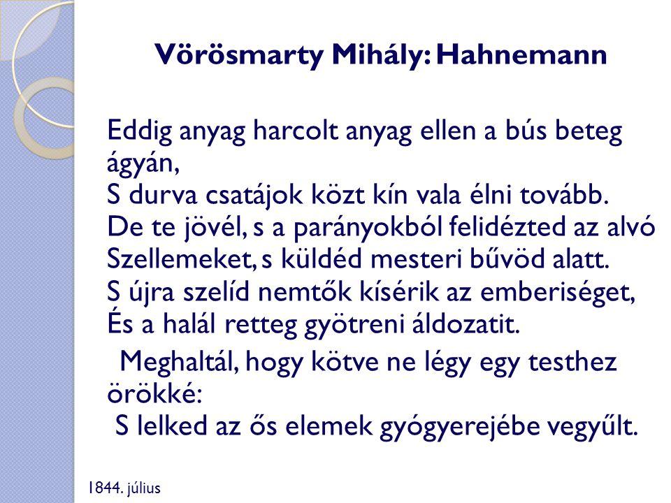 Vörösmarty Mihály: Hahnemann