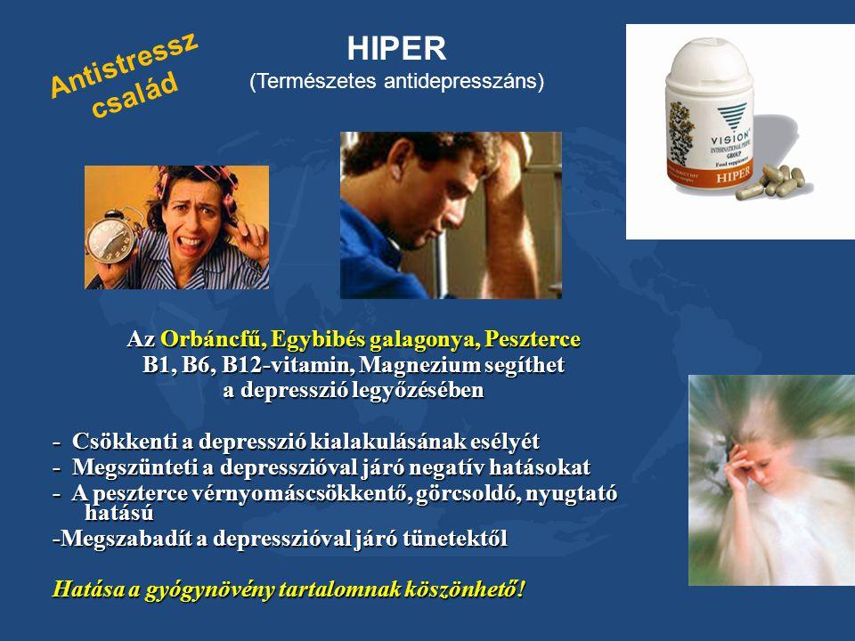 HIPER Antistressz család Az Orbáncfű, Egybibés galagonya, Peszterce