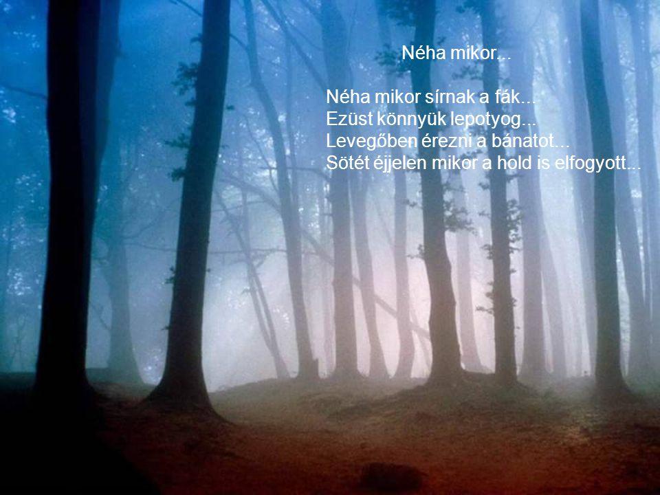 Néha mikor... Néha mikor sírnak a fák... Ezüst könnyük lepotyog...