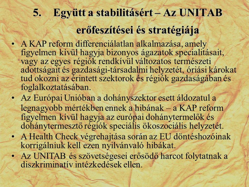 Együtt a stabilitásért – Az UNITAB erőfeszítései és stratégiája