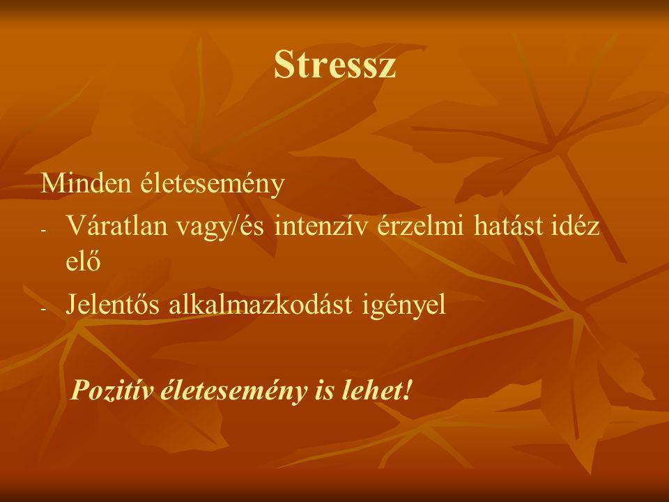 Stressz Minden életesemény