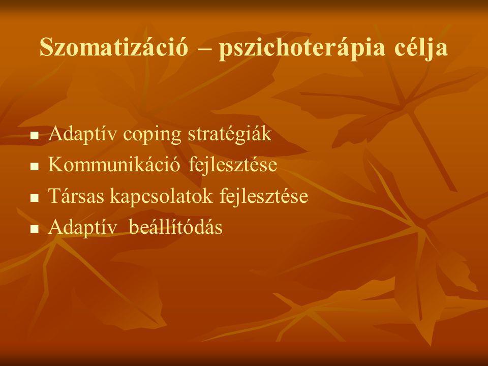 Szomatizáció – pszichoterápia célja