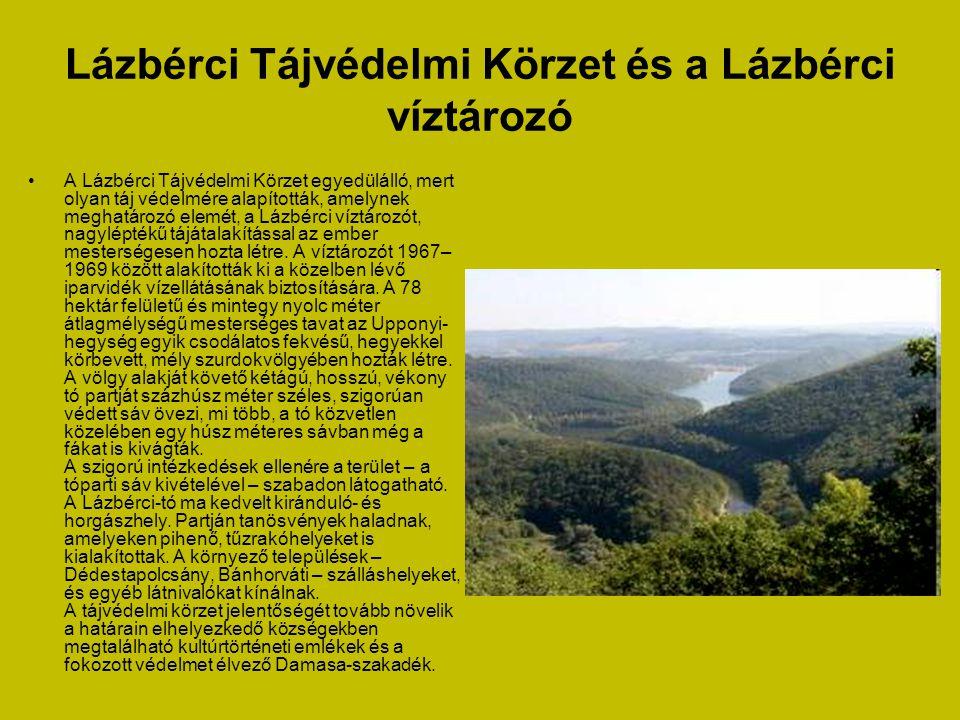 Lázbérci Tájvédelmi Körzet és a Lázbérci víztározó