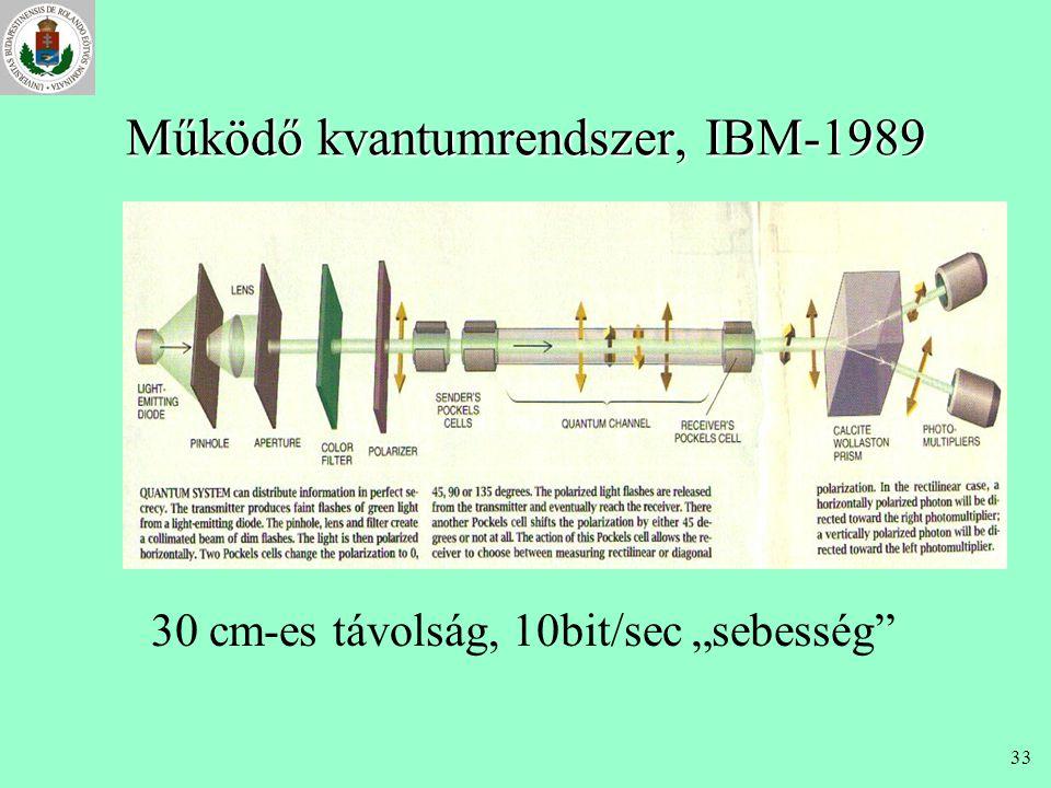 Működő kvantumrendszer, IBM-1989