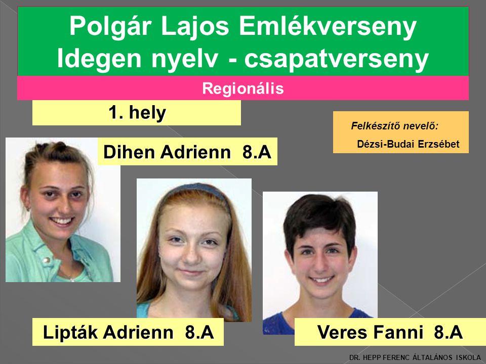 Polgár Lajos Emlékverseny Idegen nyelv - csapatverseny