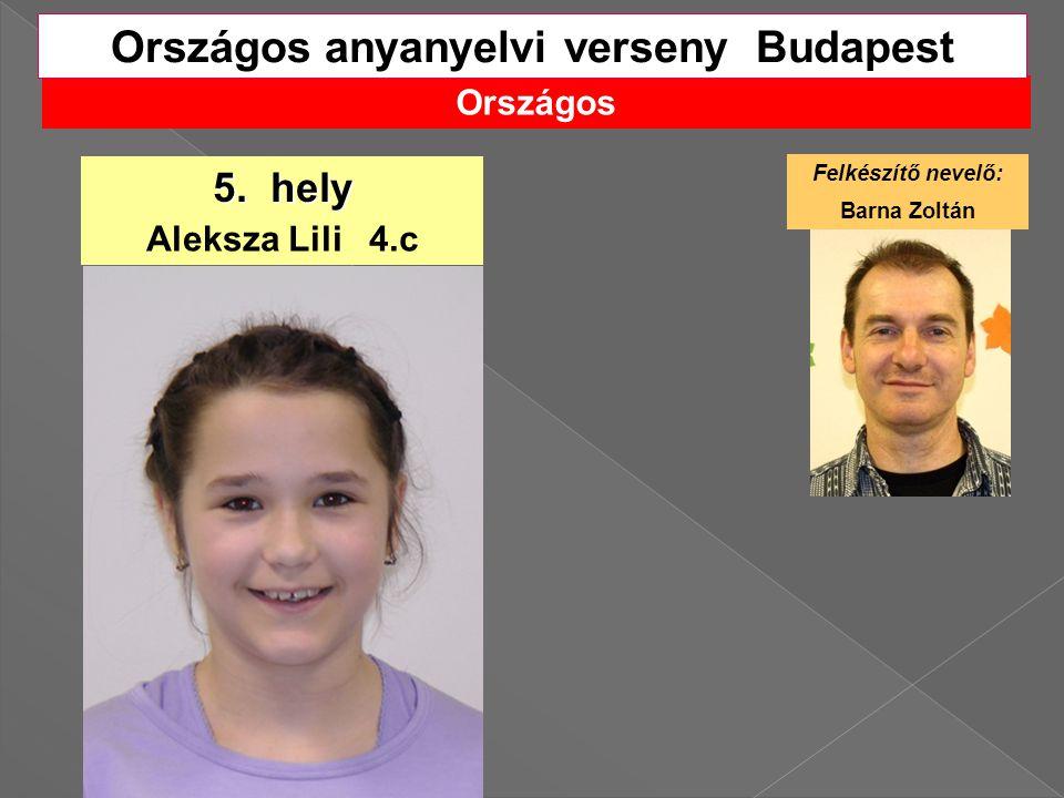 Országos anyanyelvi verseny Budapest