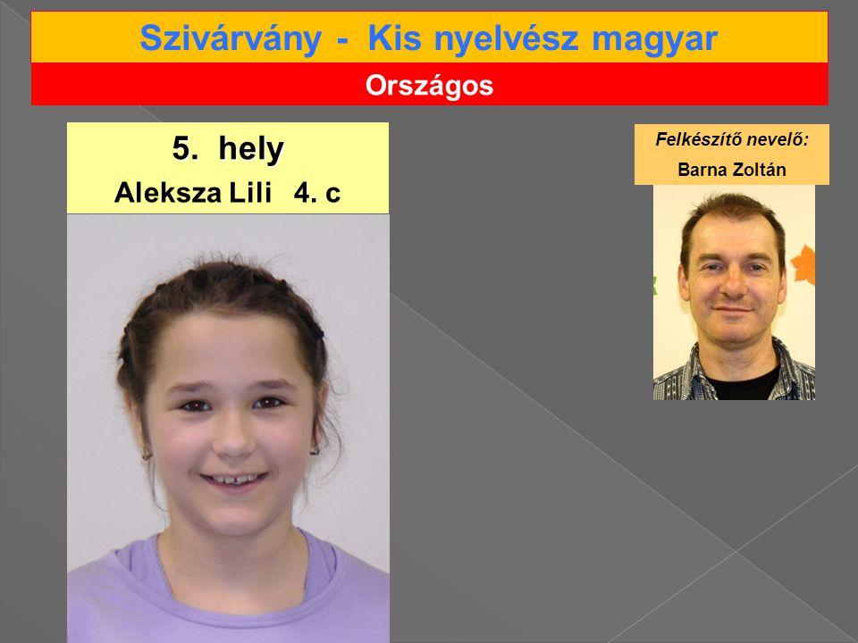 Szivárvány - Kis nyelvész magyar