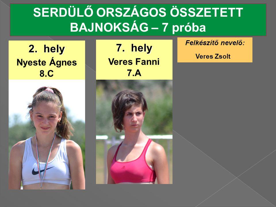 SERDÜLŐ ORSZÁGOS ÖSSZETETT BAJNOKSÁG – 7 próba