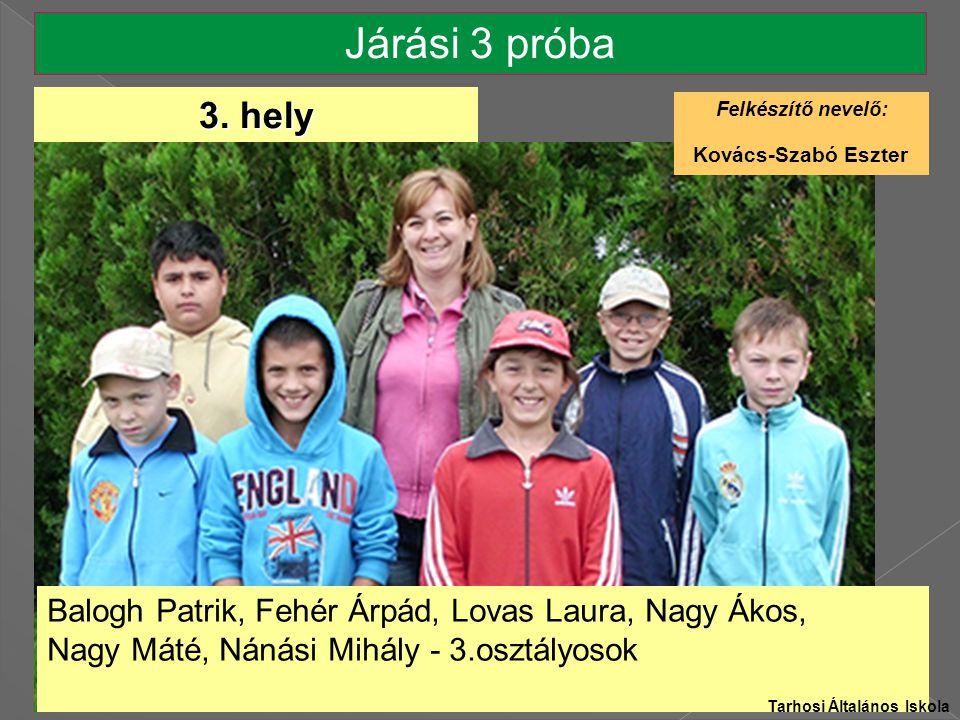 Járási 3 próba 3. hely Kovács-Szabó Eszter