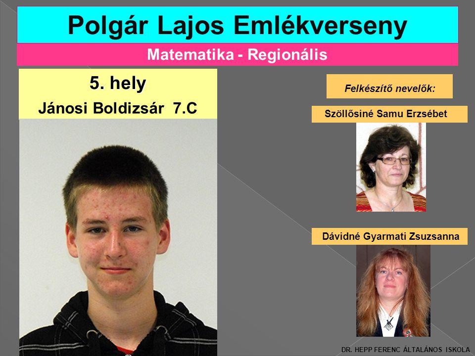 Polgár Lajos Emlékverseny Matematika - Regionális