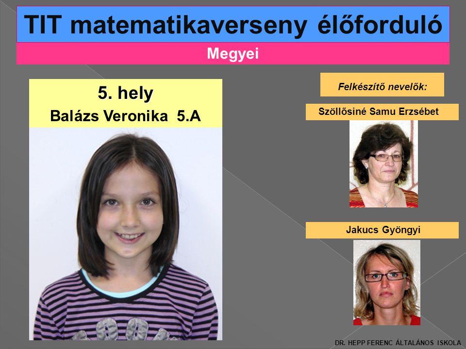 TIT matematikaverseny élőforduló