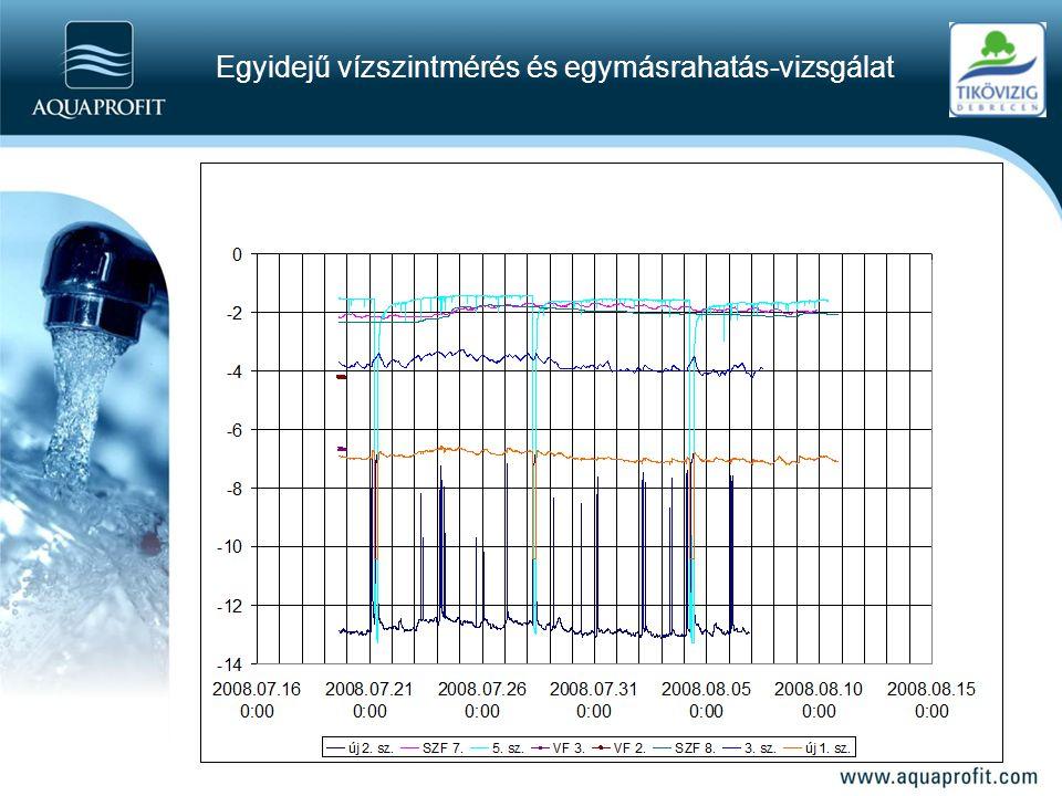 Egyidejű vízszintmérés és egymásrahatás-vizsgálat