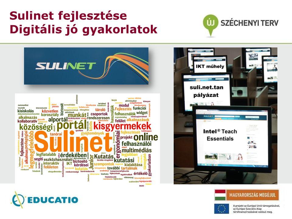 Sulinet fejlesztése Digitális jó gyakorlatok
