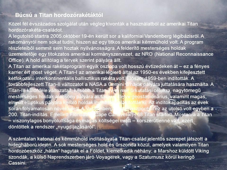 Búcsú a Titan hordozórakétáktól