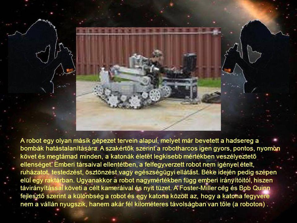 A robot egy olyan másik gépezet tervein alapul, melyet már bevetett a hadsereg a bombák hatástalanítására.