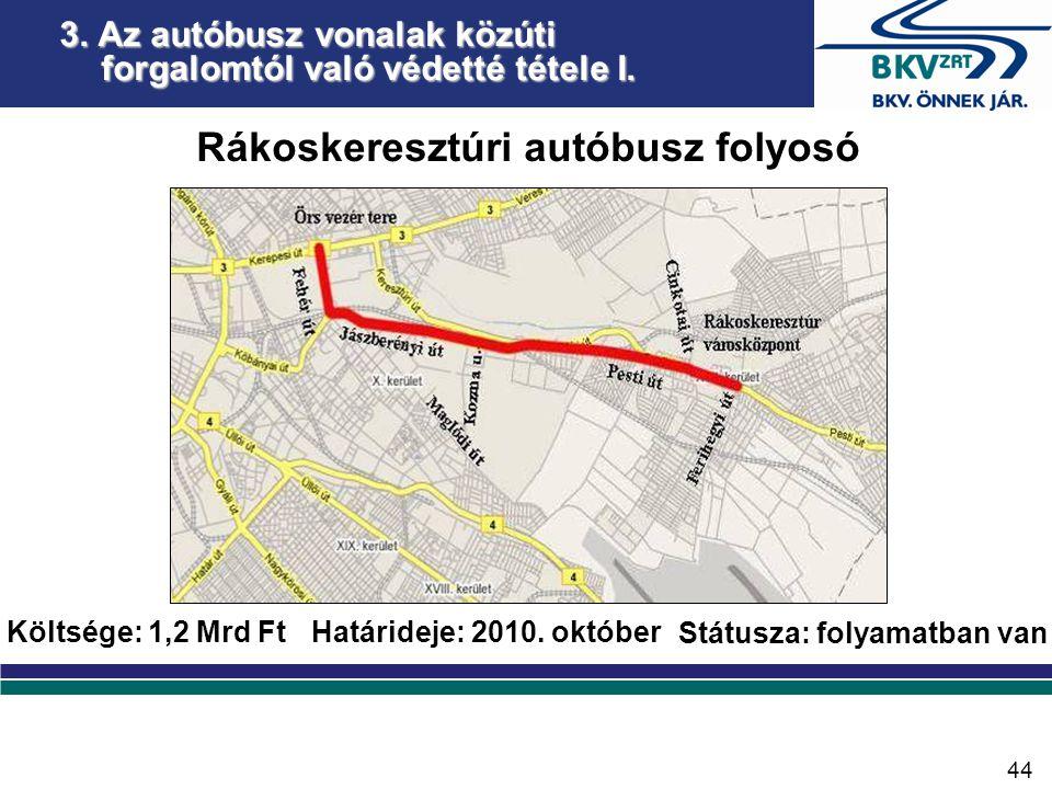 3. Az autóbusz vonalak közúti forgalomtól való védetté tétele II.