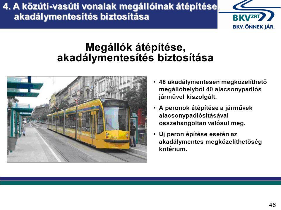 5. A közforgalmú közlekedés jármű állományának fejlesztése