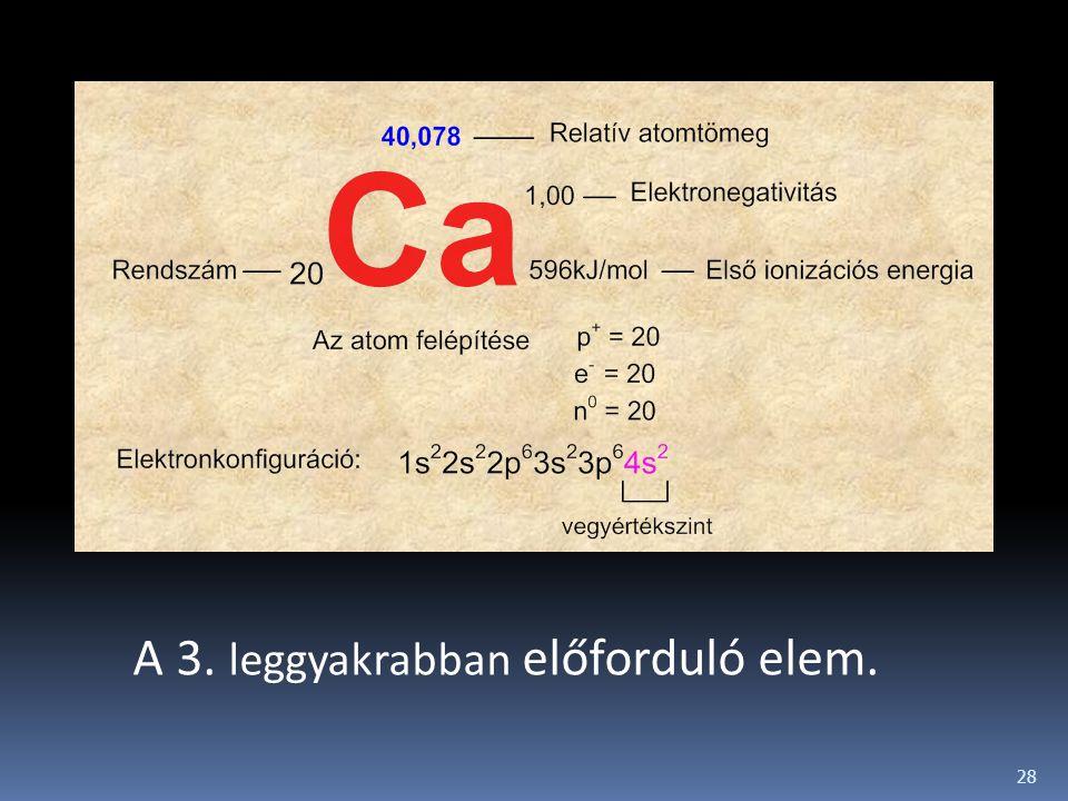 A 3. leggyakrabban előforduló elem.