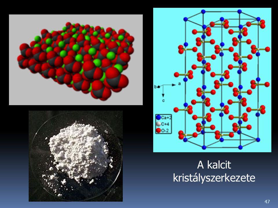 A kalcit kristályszerkezete