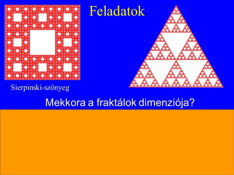 Mekkora a fraktálok dimenziója