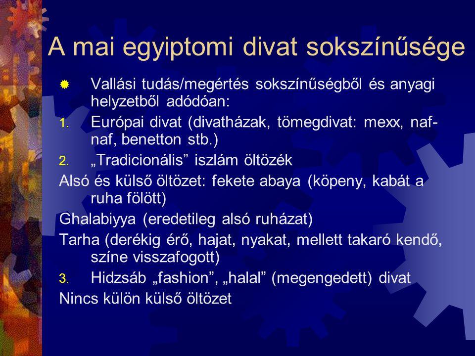 A mai egyiptomi divat sokszínűsége
