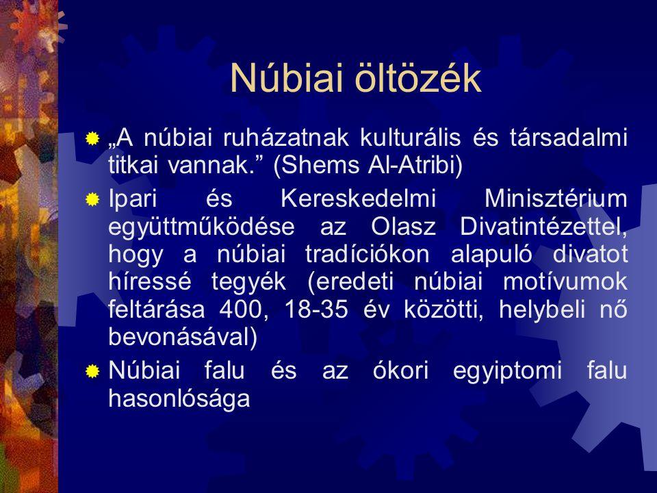 """Núbiai öltözék """"A núbiai ruházatnak kulturális és társadalmi titkai vannak. (Shems Al-Atribi)"""