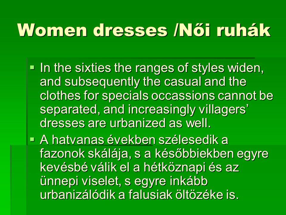Women dresses /Női ruhák