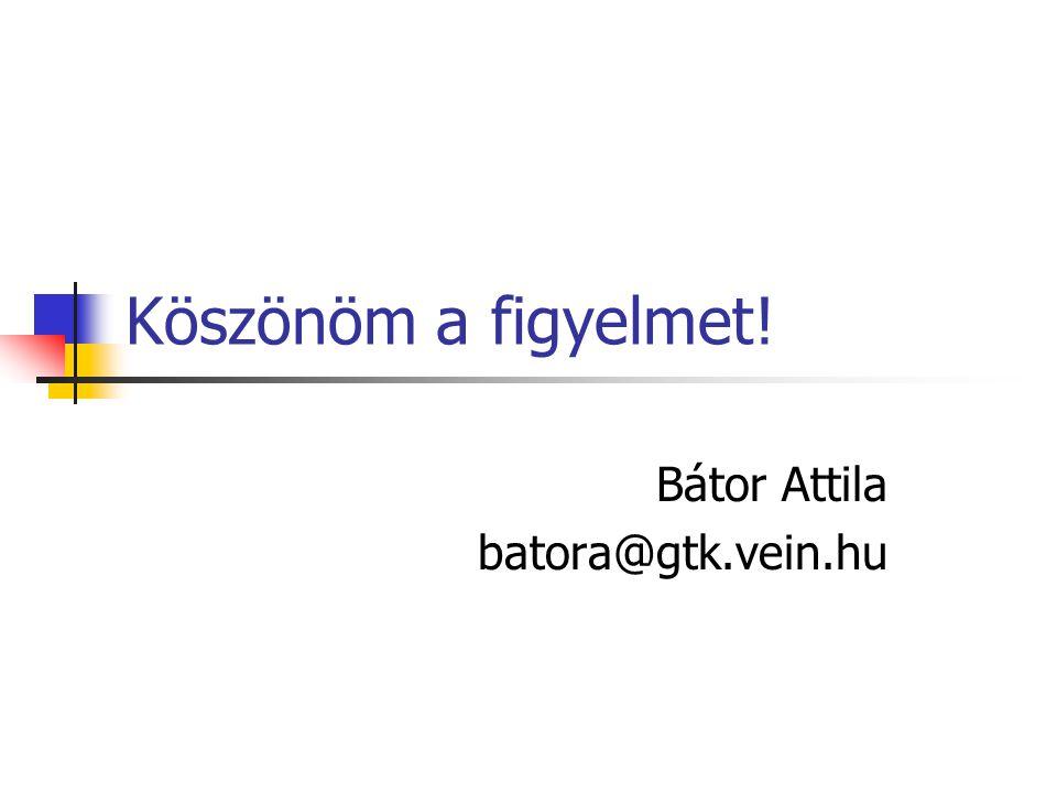 Bátor Attila batora@gtk.vein.hu
