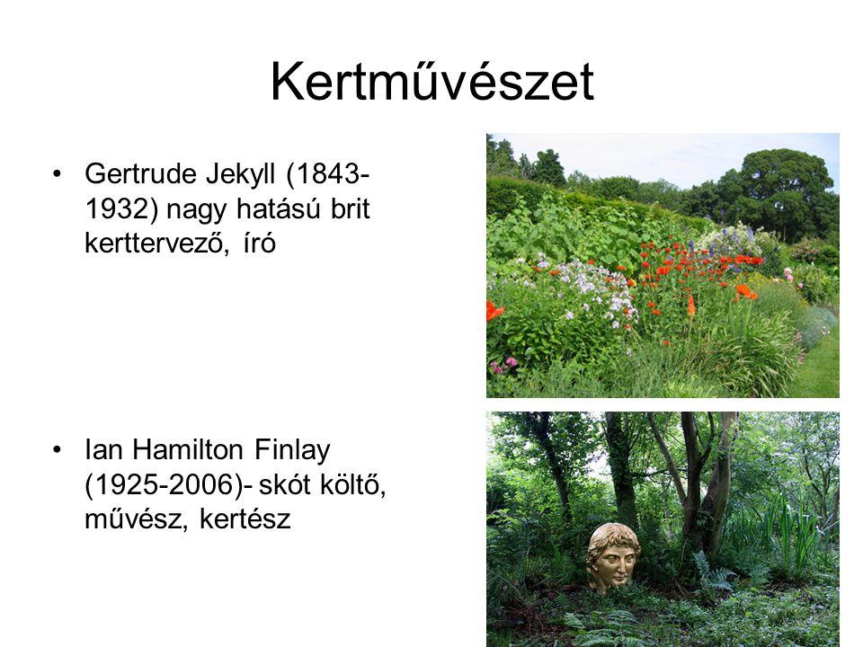 Kertművészet Gertrude Jekyll (1843-1932) nagy hatású brit kerttervező, író.