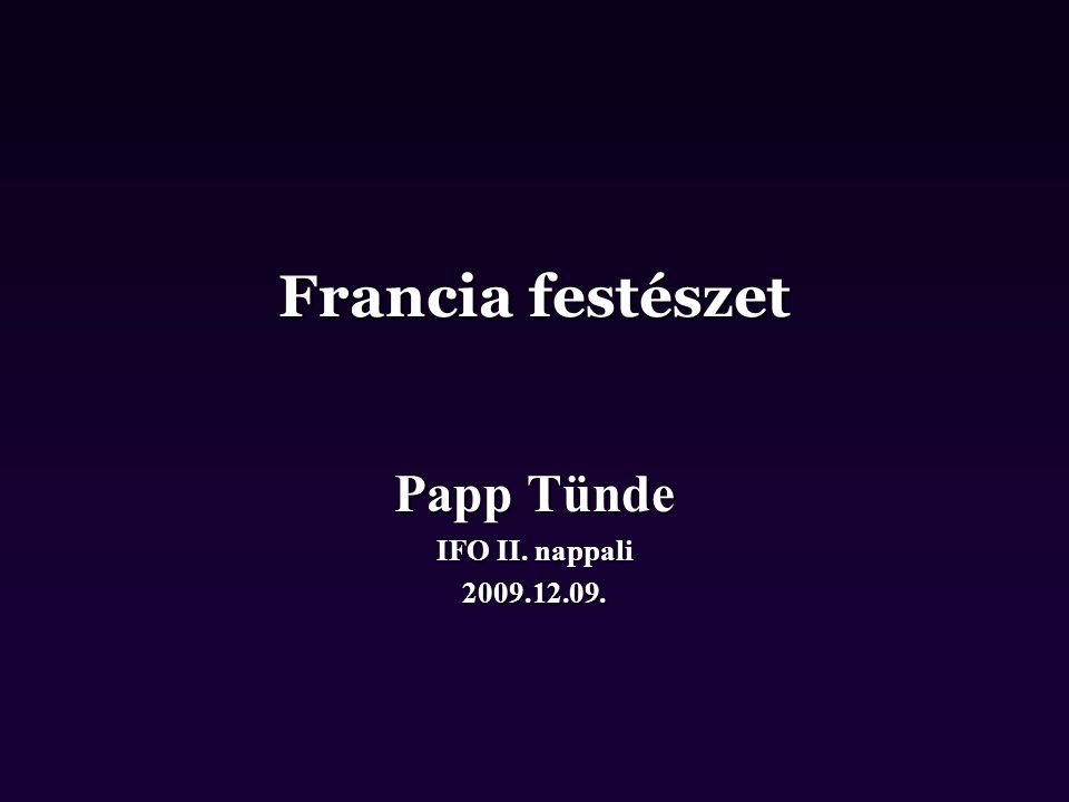 Papp Tünde IFO II. nappali 2009.12.09.