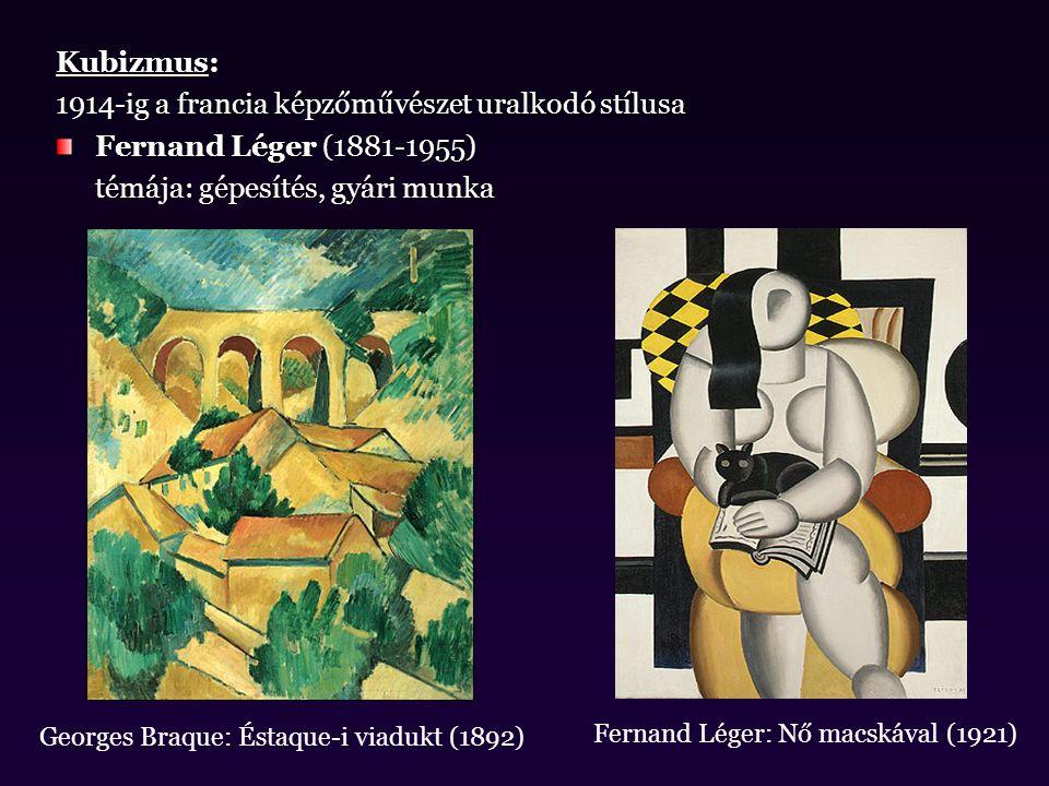 1914-ig a francia képzőművészet uralkodó stílusa