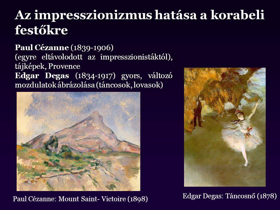 Az impresszionizmus hatása a korabeli festőkre