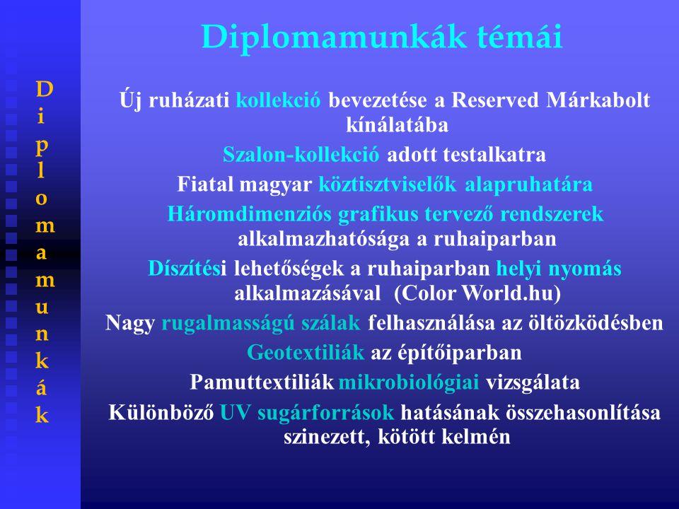 Diplomamunkák témái Diplomamunkák