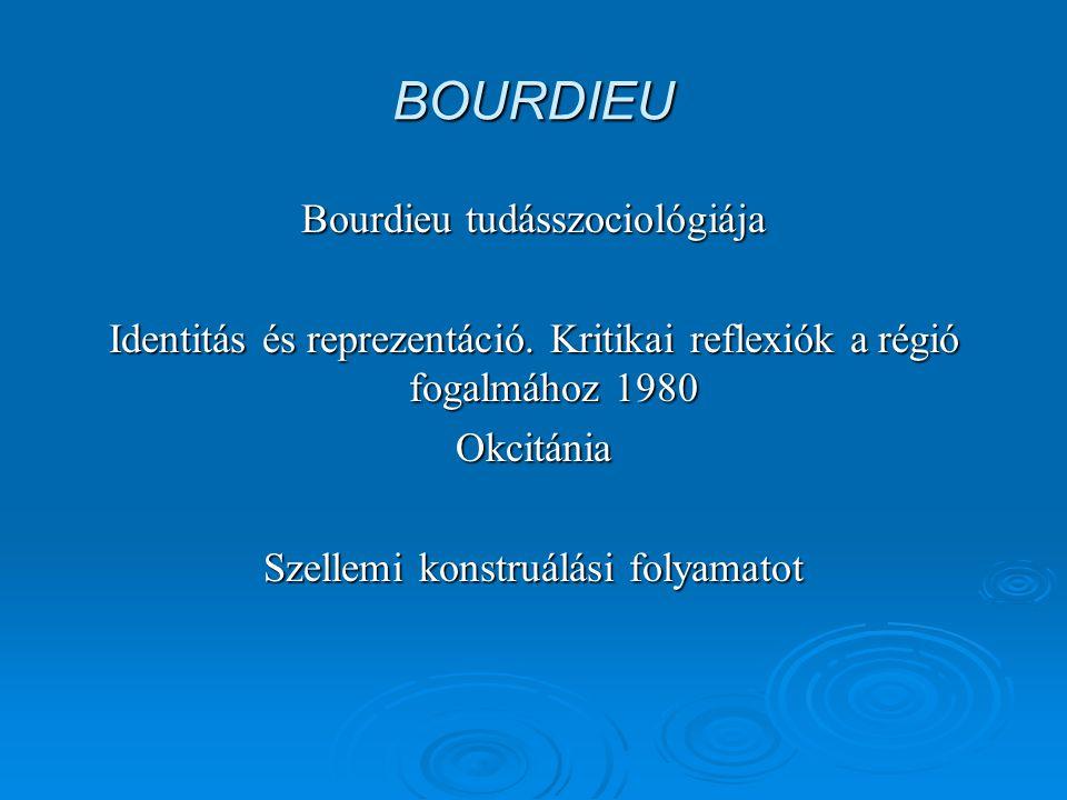 BOURDIEU Bourdieu tudásszociológiája