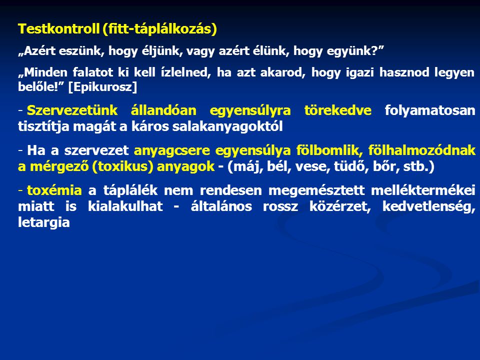 Testkontroll (fitt-táplálkozás)