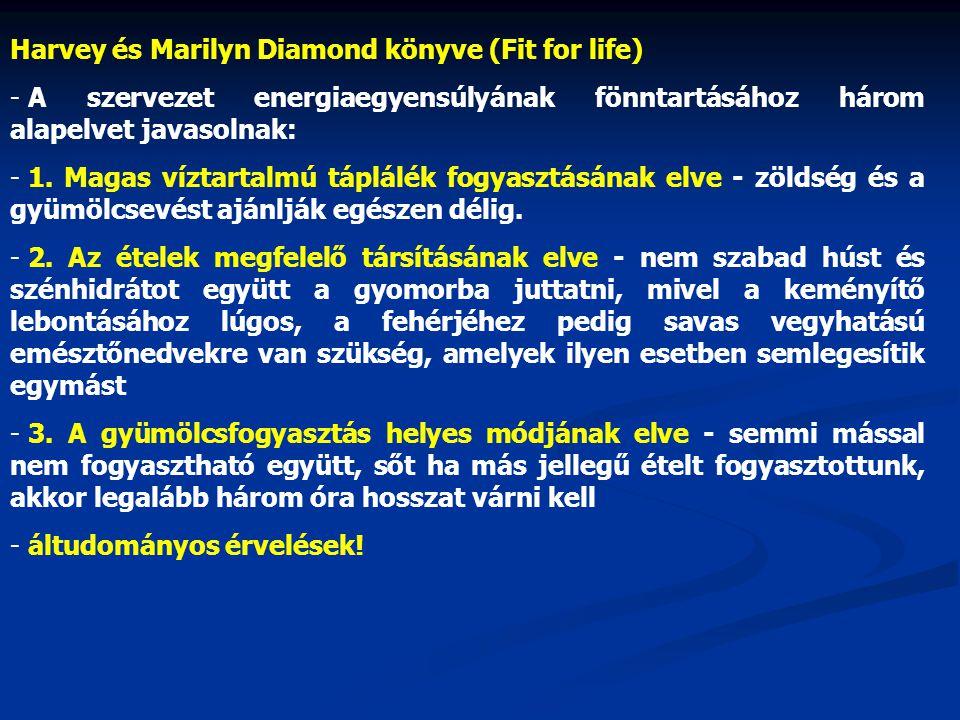 Harvey és Marilyn Diamond könyve (Fit for life)