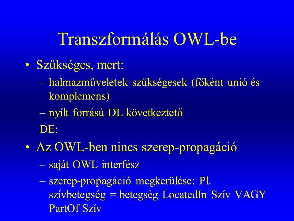 Transzformálás OWL-be