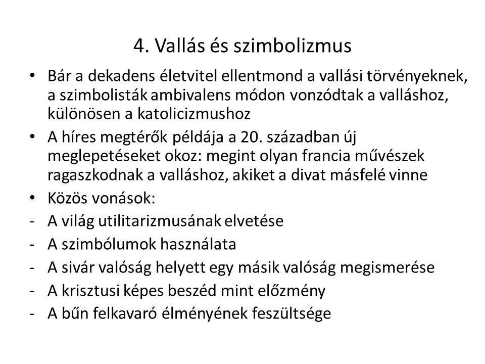 4. Vallás és szimbolizmus