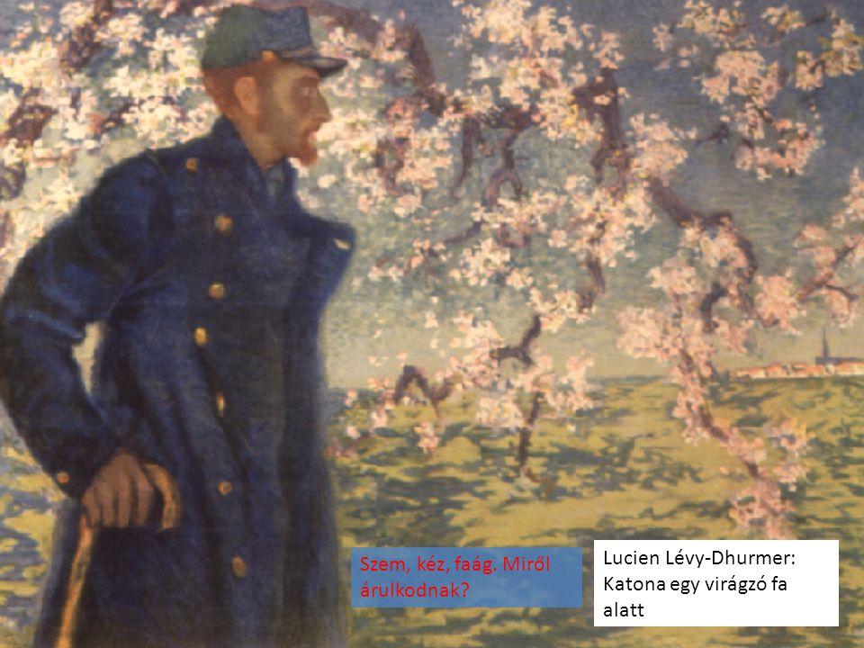 Lucien Lévy-Dhurmer: Katona egy virágzó fa alatt
