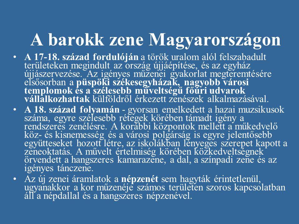 A barokk zene Magyarországon