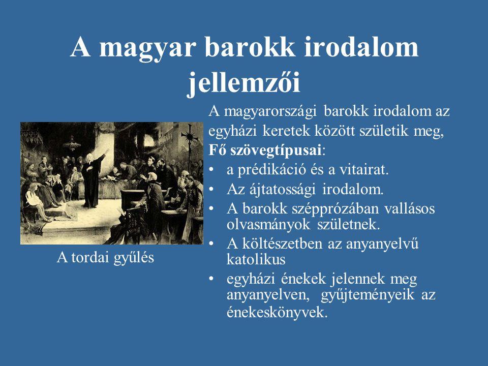 A magyar barokk irodalom jellemzői