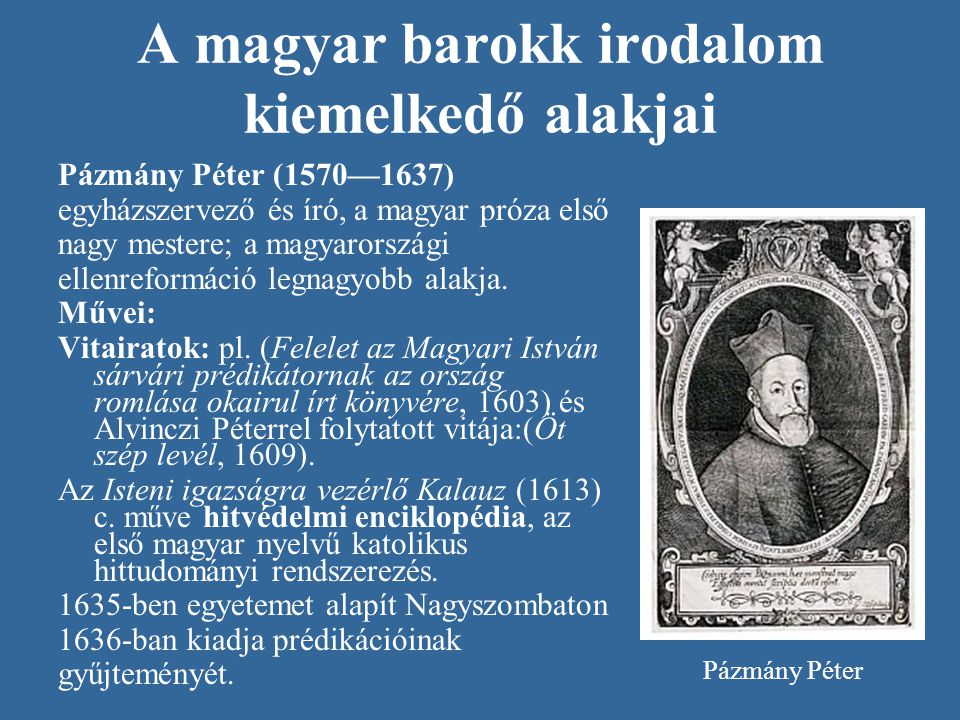 A magyar barokk irodalom kiemelkedő alakjai