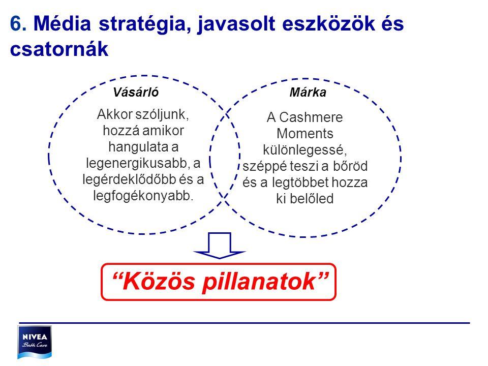Közös pillanatok 6. Média stratégia, javasolt eszközök és csatornák