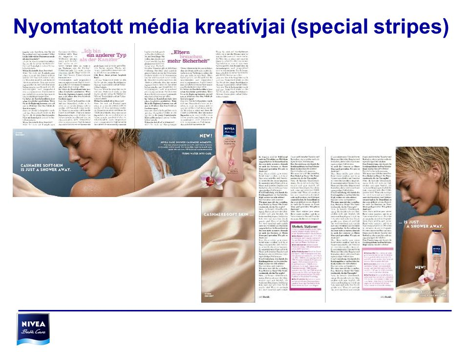 Nyomtatott média kreatívjai (special stripes)