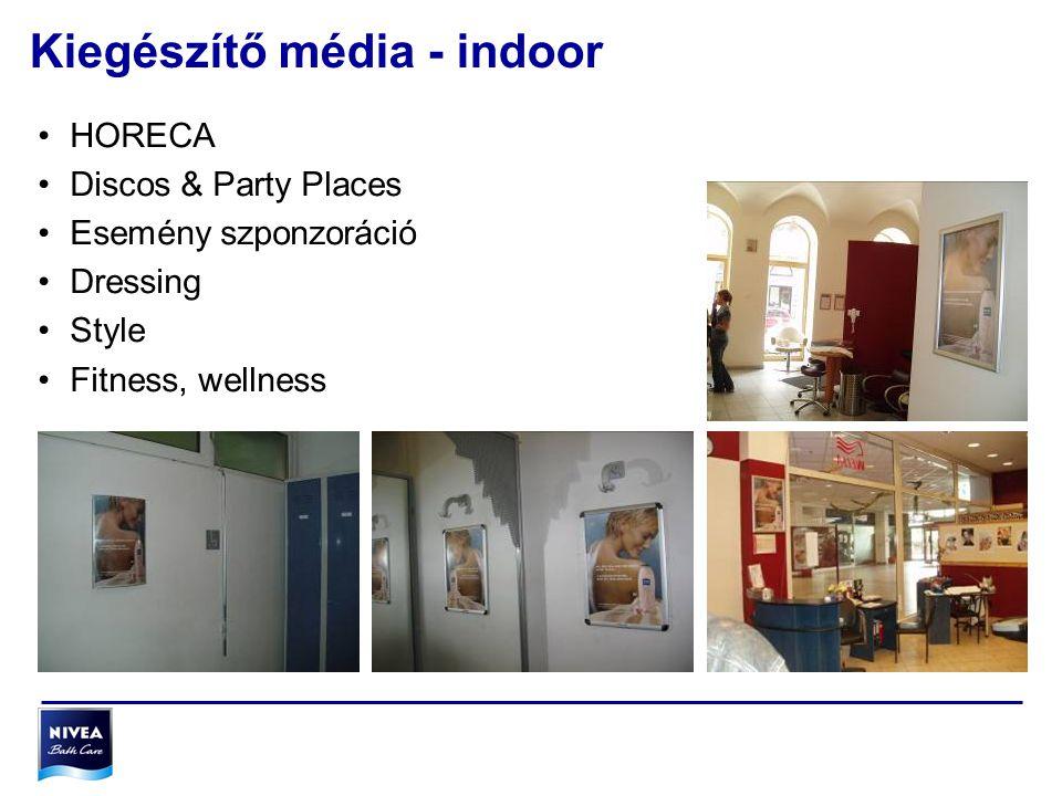 Kiegészítő média - indoor