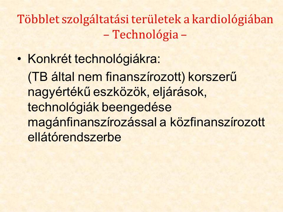 Többlet szolgáltatási területek a kardiológiában – Technológia –