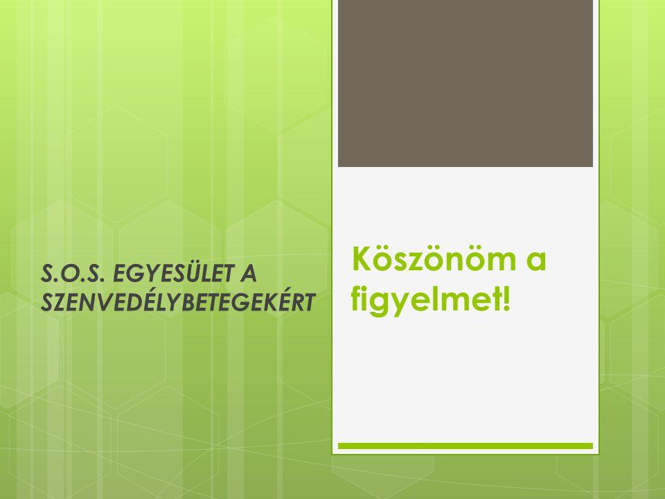S.O.S. EGYESÜLET A SZENVEDÉLYBETEGEKÉRT
