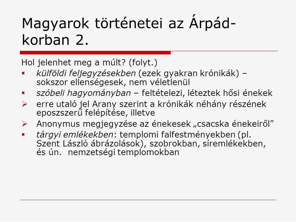 Magyarok történetei az Árpád-korban 2.